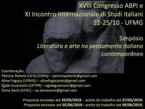 Simpósio: Literatura e arte no pensamento italiano contemporâneo - UFMG